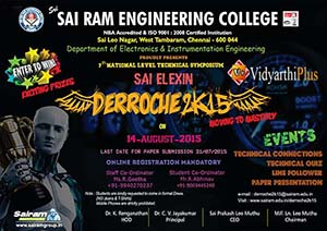 DERROCHE 2K15 - 7th National level Technical Symposium - Sri Sairam Engineering College