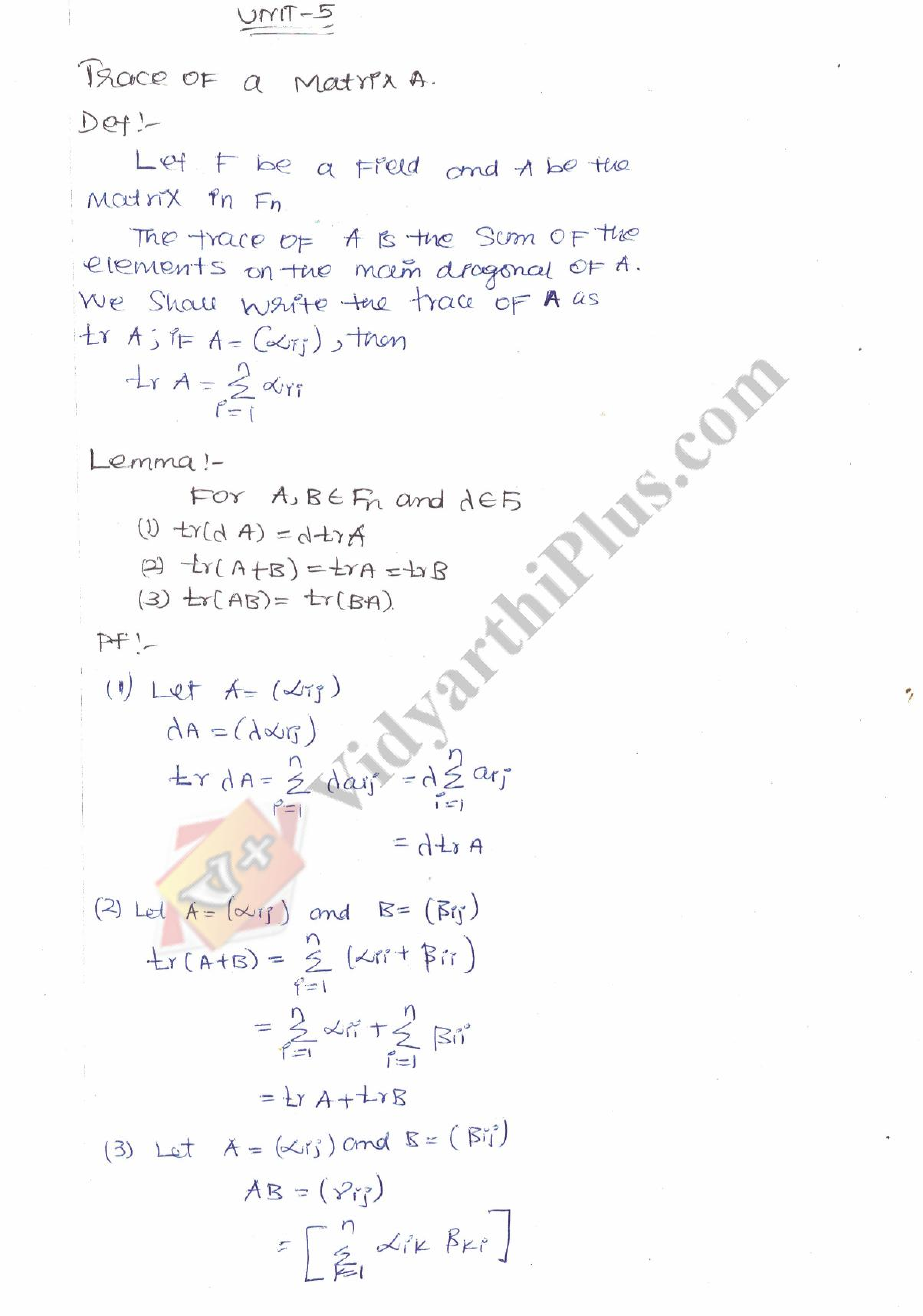 Algebra - I Premium Lecture Notes (All Units) - Anitha Edition