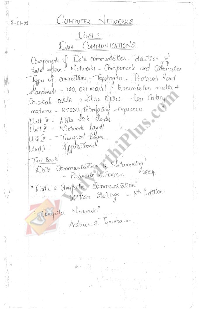 Computer Network Premium Lecture Notes - Sukanya Edition