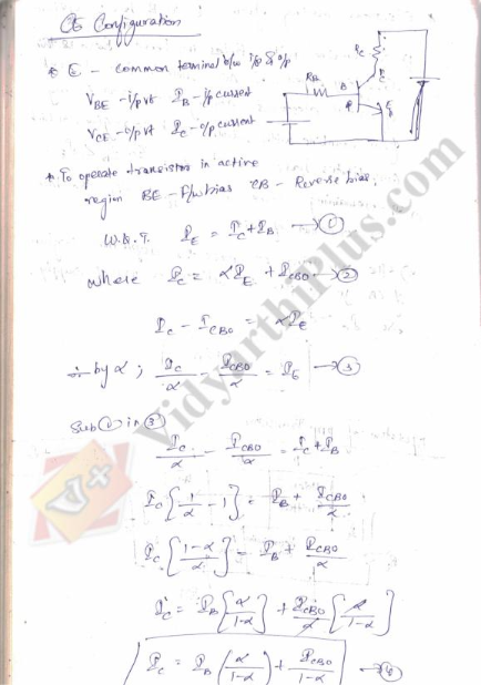 Electronic Devices And Circuits Premium Lecture Notes (All Units) - Srikala Edition