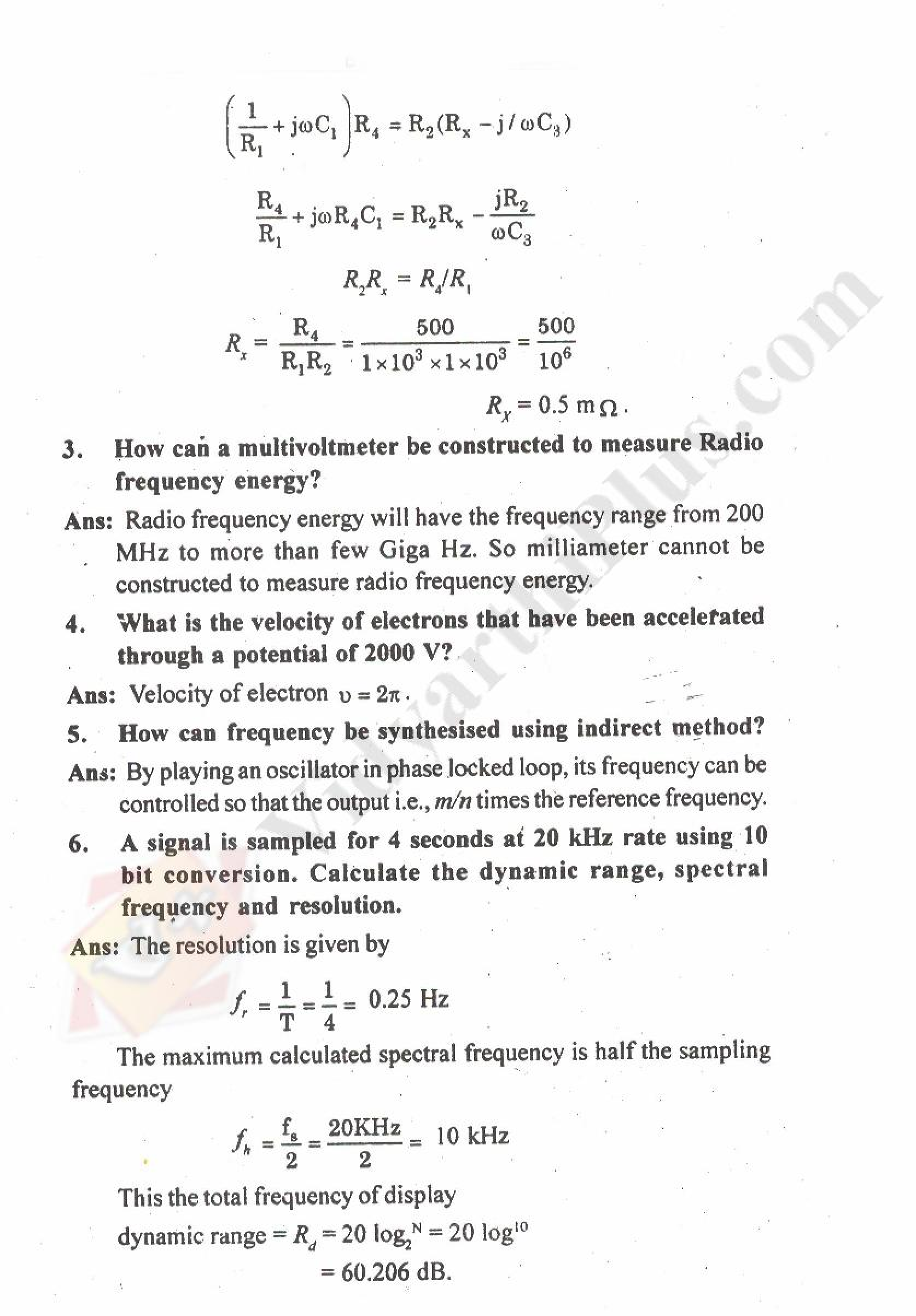 Measurements And Instrumentation Solved Question Papers - 2015 Edition