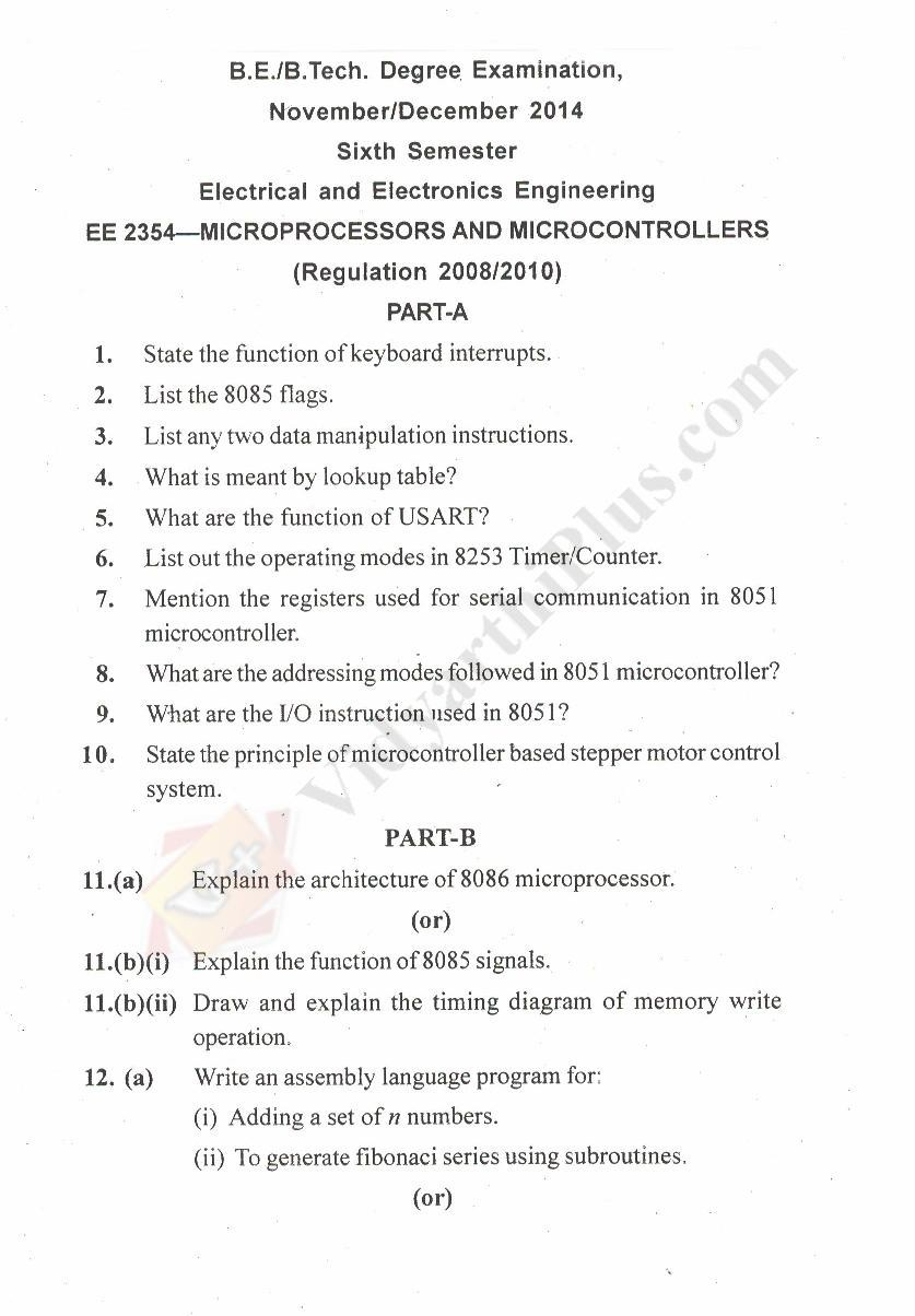 Microprocessors and Microcontroller Solved Question Papers - 2015 Edition