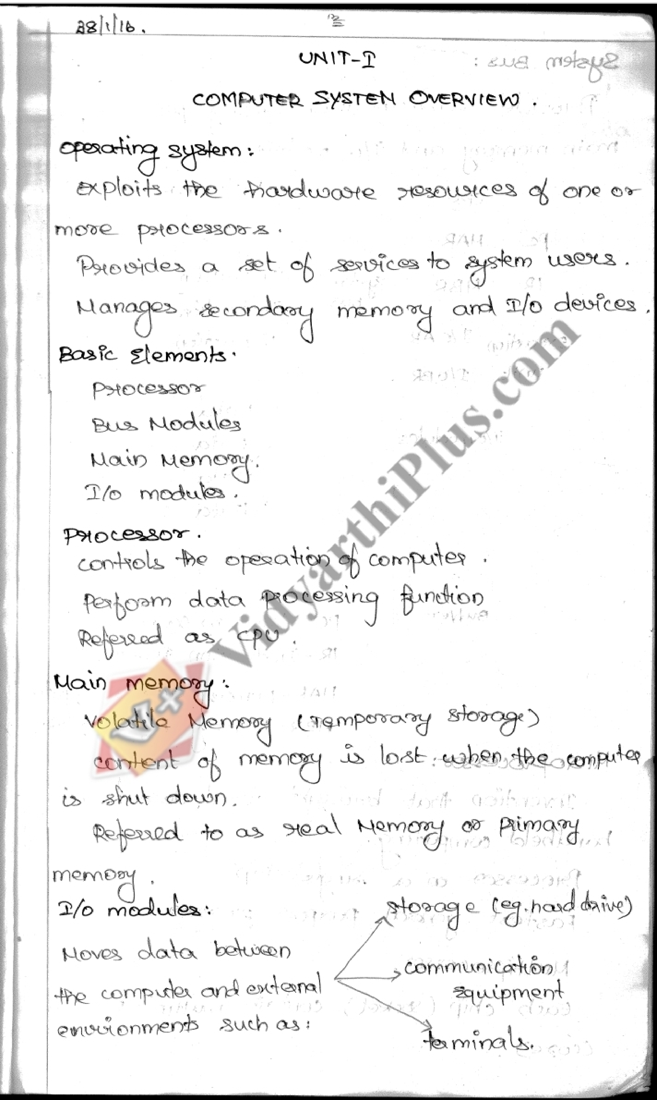 Operating System Premium Lecture Notes (4 Units) - Kalashree Edition