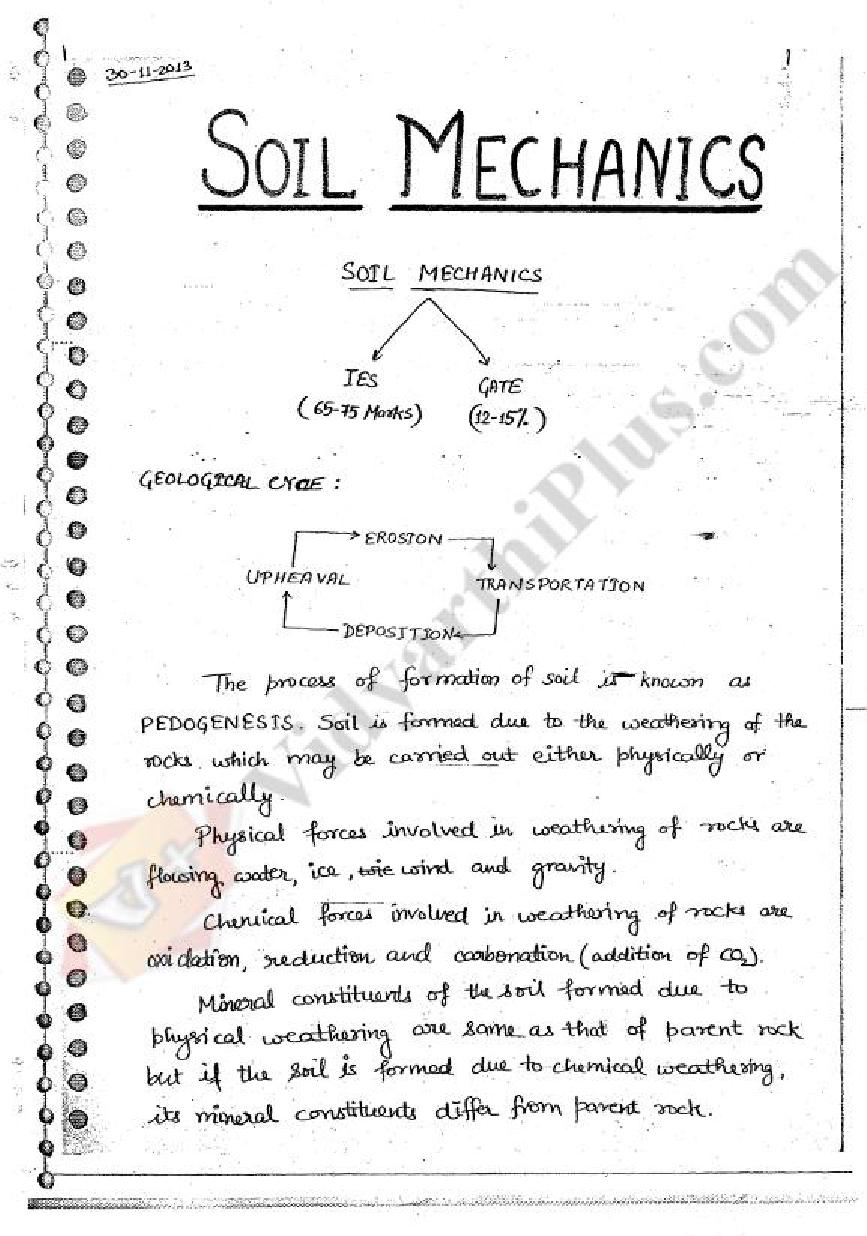 Soil Mechanics (SM) Premium Lecture Notes - Lakshana Edition