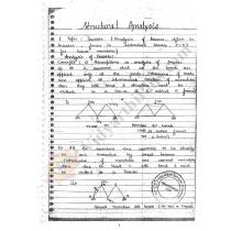 Structural analysis Premium Lecture Notes - Lakshana Edition