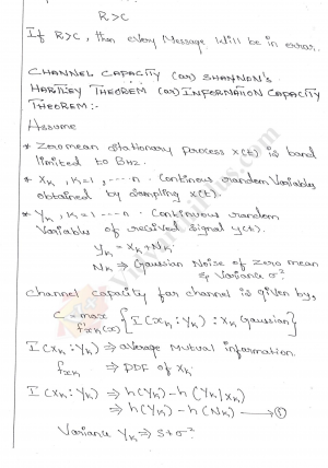 Communication Theory ( 1 and 5 Units) Premium Lecture Notes - Lavanya Edition