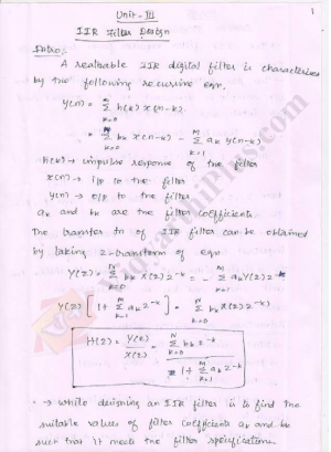 Digital Signal Processing Premium Lecture Notes - Kavi Edition