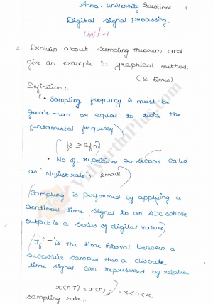 Digital Signal Processing Premium Lecture Notes (4 Units) - Venkat Raman Notes