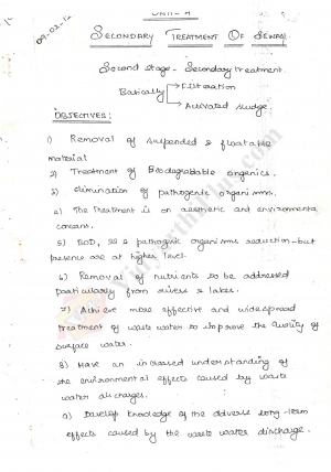 Environmental Engineering -II Premium Lecture Notes - Bala Edition