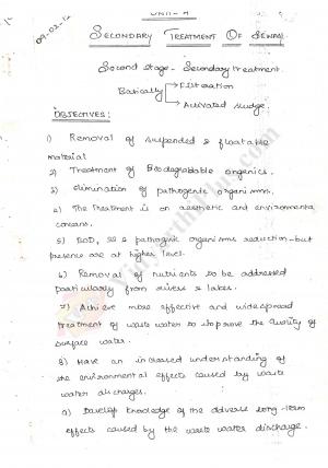 Environmental Engineering -II Premium Lecture Notes - Bala Edition