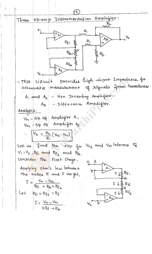 Linear Integrated Circuits( 2 Units) Premium Lecture Notes - Lavanya Edition