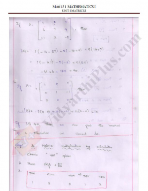Mathematics-I (Units 1 and 2) Premium Lecture Notes - Sridhar Edition