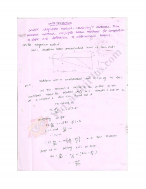 Mechanics Of Solids Premium Lecture Notes - Raji Edition