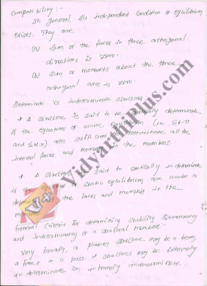 Structural Analysis - II Premium Lecture Notes - Kalaipandian Edition