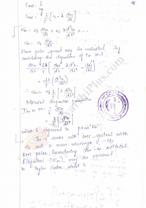 Optical Communication And Networking Premium Lecture Notes - Sukanya Edition