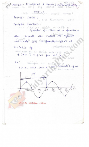 Transforms and Partial Differential Equations (All Units) Premium Lecture Notes - Kamalapriya Edition
