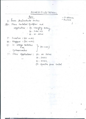 Power Electronics Full Premium Lecture Notes