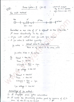 Power System II (GATE) Premium Lecture Notes - Ramana Edition