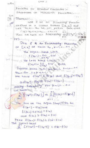 Real Analysis 1 Premium Lecture Notes - Anitha Edition
