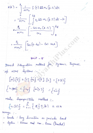 Structural Dynamics Premium Lecture Notes - Buvana Edition