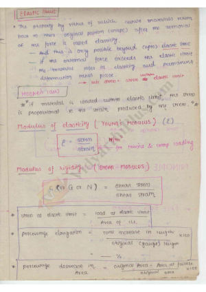 Strength Of Materials Premium Lecture Notes - Harish Edition