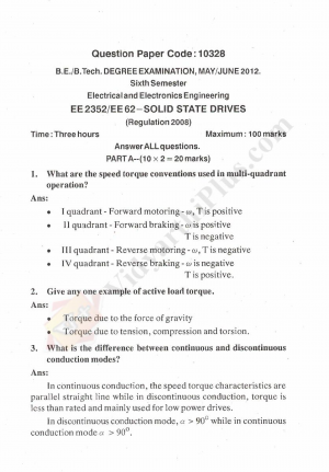 Solid State Drives Solved Question Papers - 2015 Edition (Anna University)