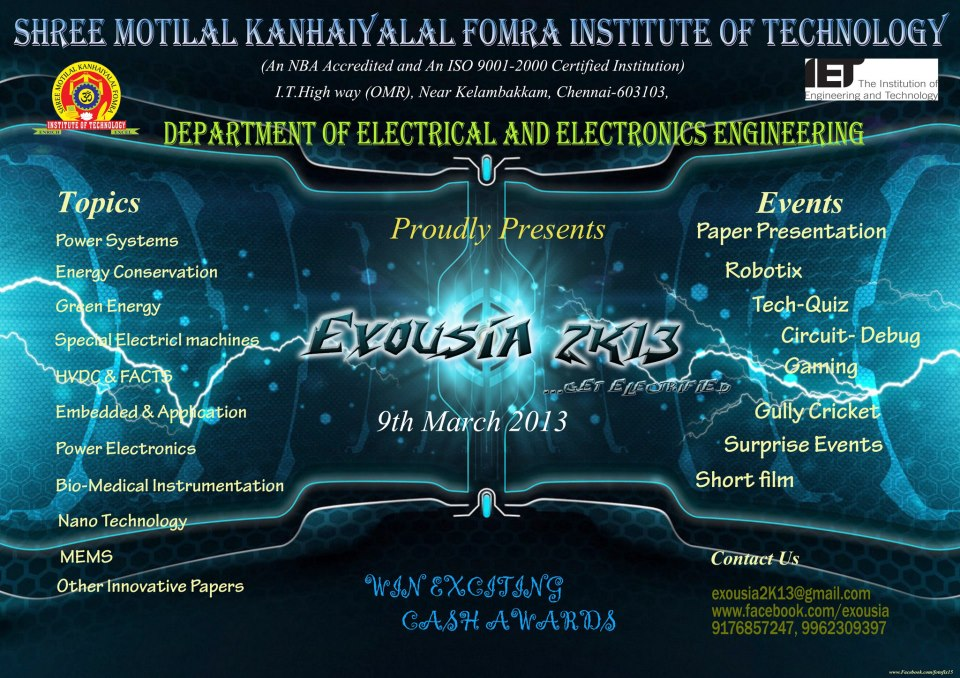 Exousia13 A Eee Technical Symposium By Smk Fomra