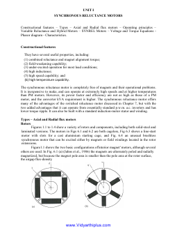 Ee2403 Special Electrical Machines Lecture Notes
