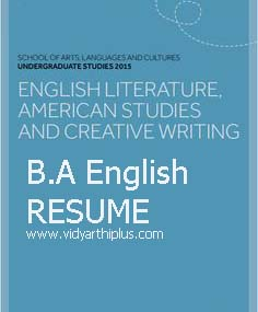 Ba english resume format and samples ba english resume format yelopaper Choice Image