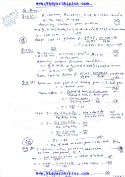 3341903 Theory Of Machine May 2015 Question Paper With Answers