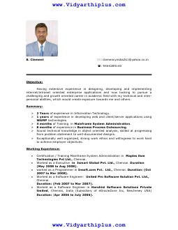 mphil computer science resume - Resume M Phil Computer Science