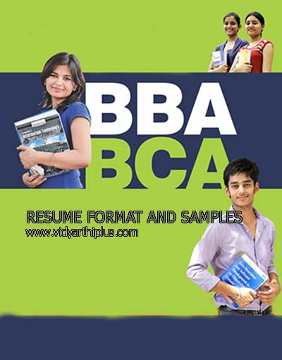 bba and bca resume format and samples