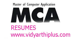 master of computer application mca resume format - Mca Resume Format For Freshers